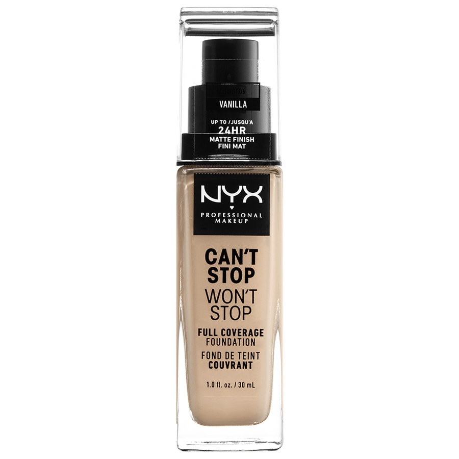 Nyx professional makeup foundation can t stop won t stop 24 hour