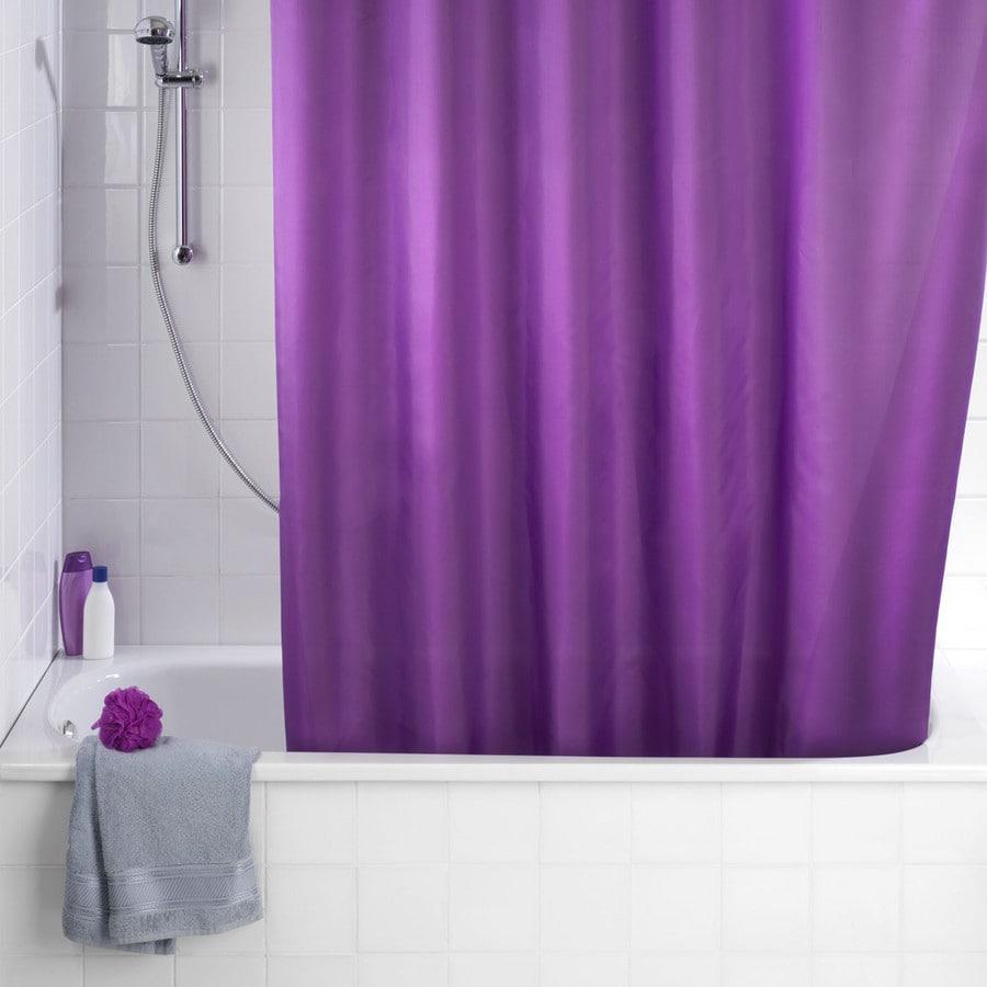 wenko duschvorh nge duschvorhang uni purple bei. Black Bedroom Furniture Sets. Home Design Ideas