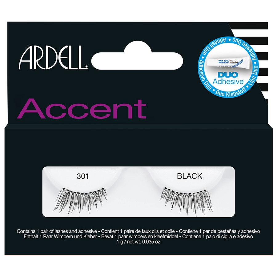 Ardell Accent Nr. 301 - Black Wimpern