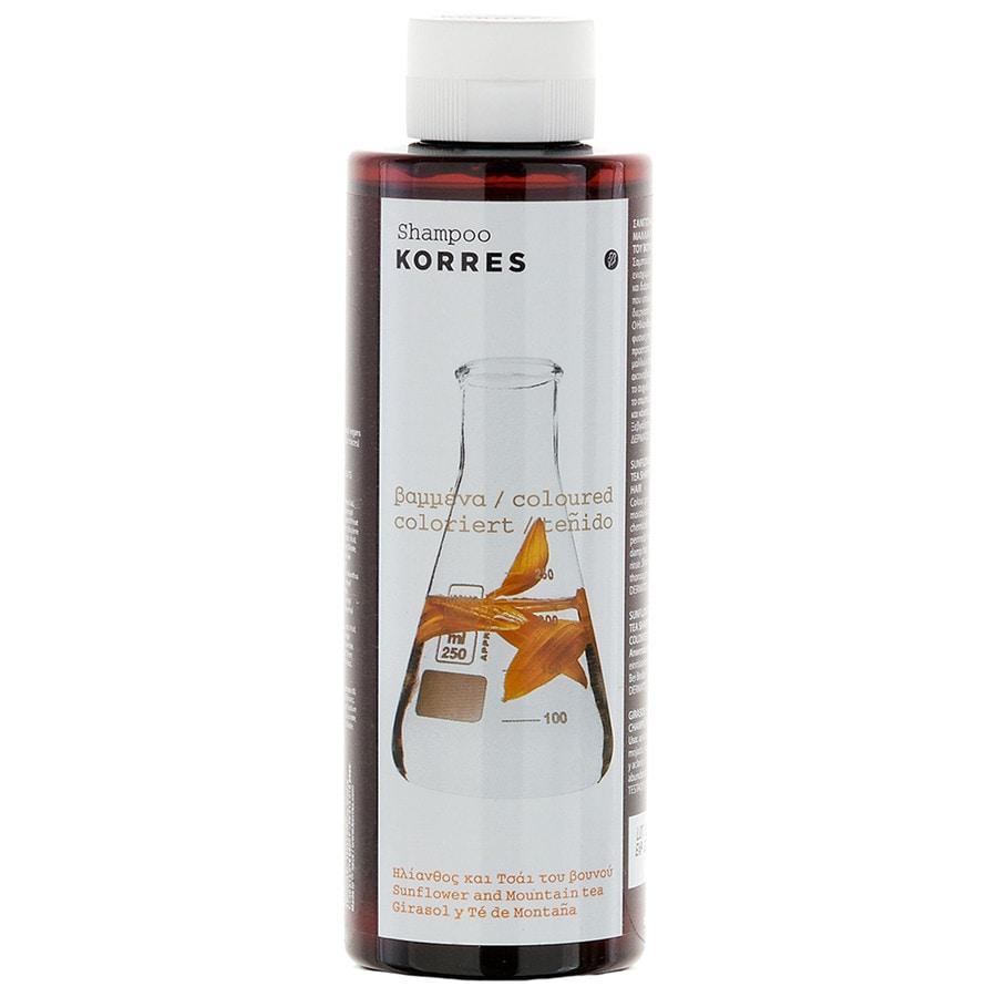 Korres Pflege Haarpflege Shampoo Sunflower & Mountain Tea - für coloriertes Haar 250 ml