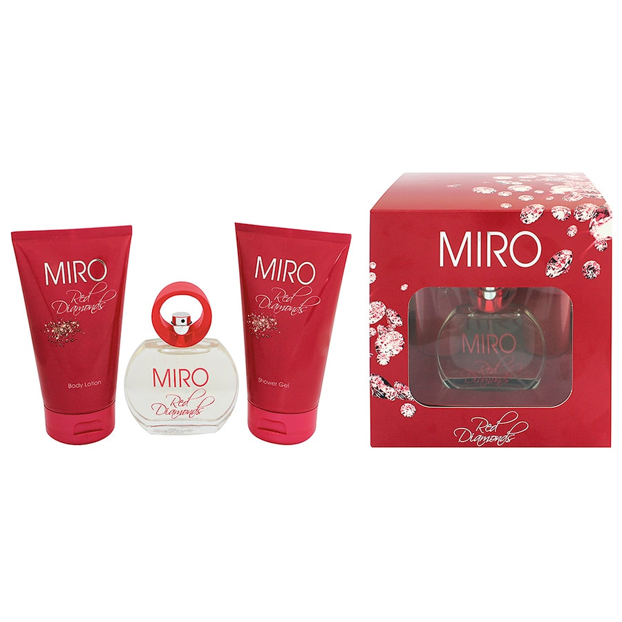 Miro Damendüfte Red Diamonds Geschenkset Eau de Parfum Spray 50 ml + Body Lotion 150 ml + Shower Gel 150 ml 1 Stk.