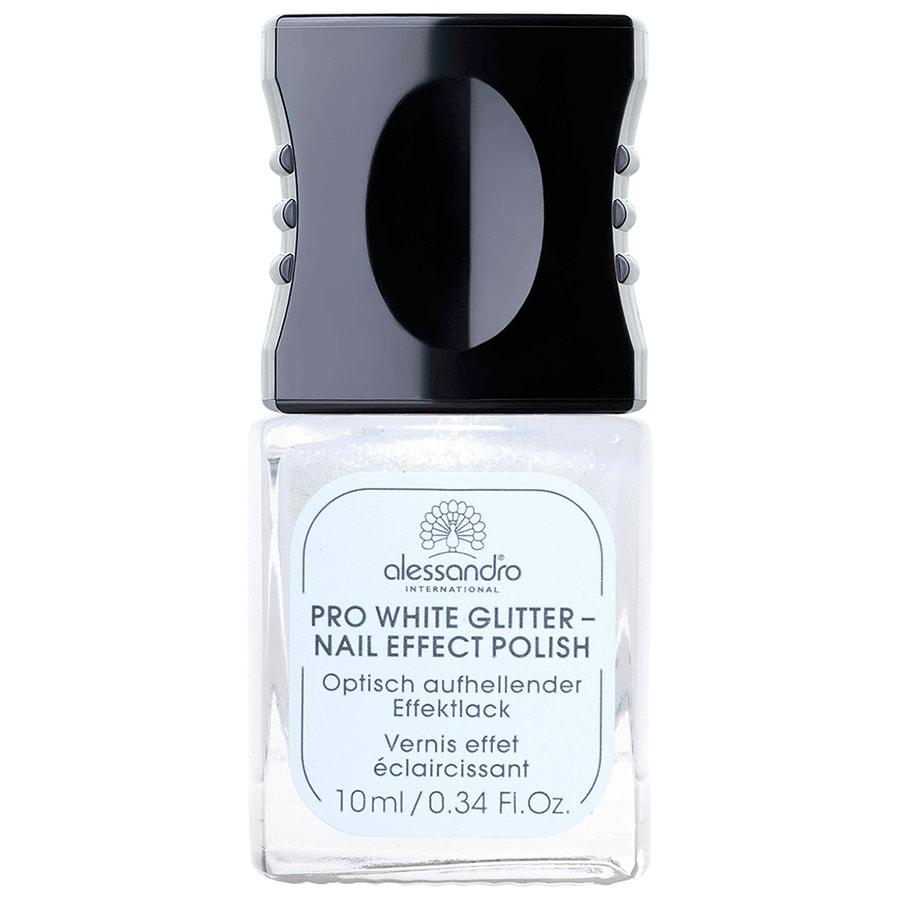 Alessandro Pflege Nail Spa Pro White Glitter 10 ml