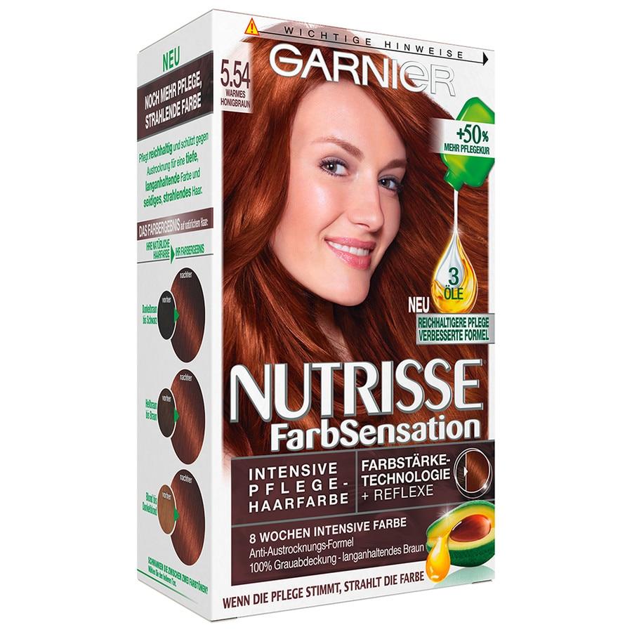 5.54 - Warmes Honigbraun Nutrisse Farbsensation Intensivcoloration Haarfarbe 1 Stück