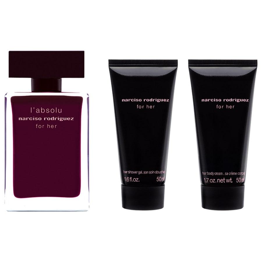 Narciso Rodriguez Damendüfte for her l´absoluGeschenkset Eau de Parfum Spray 50 ml + Body Cream 50 ml + Shower Gel 50 ml 1 Stk.