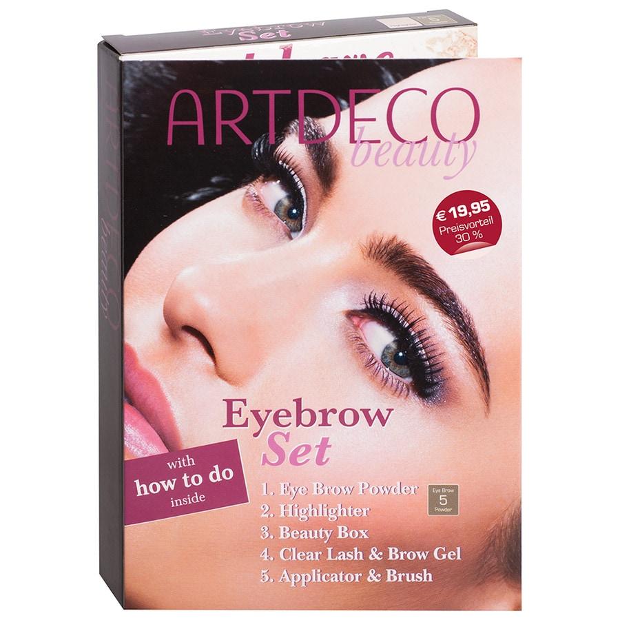 Artdeco Make-up Augen Eyebrow Set Eye Brow Powder Nr.5, 0,8 g + Highlighter 2 g + Beauty Box + Clear Lash & Brow Gel 7 ml + 1 x Applicator & Brush 1 Stk.