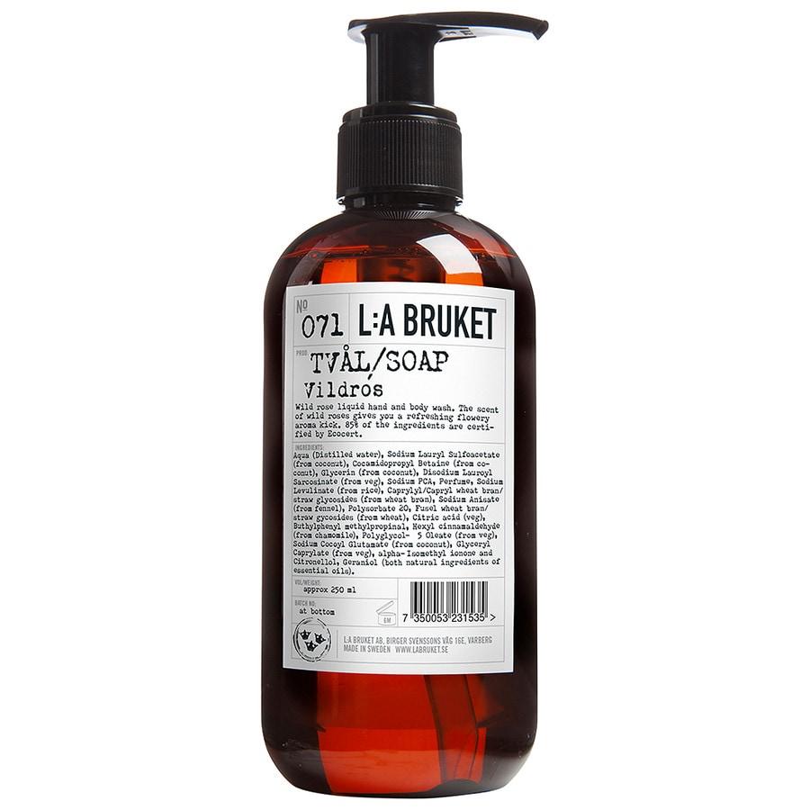 La Bruket Körperpflege Seifen Nr. 071 Liquid Soap Wild Rose