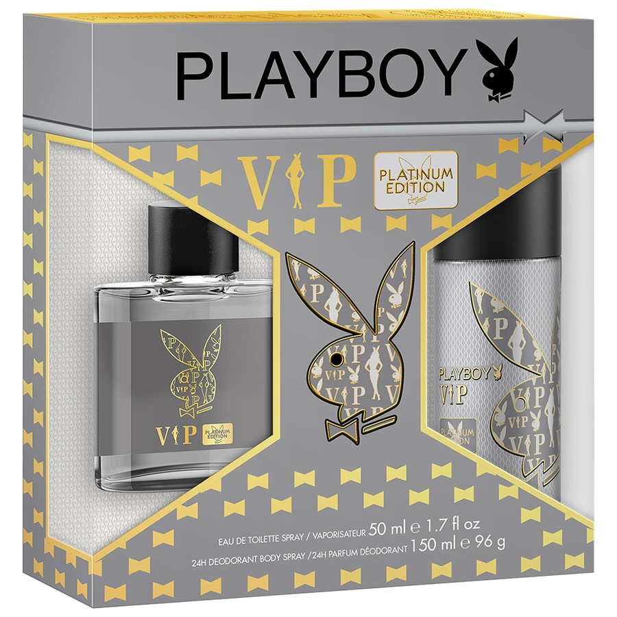 Playboy Herrendüfte VIP Platinum Edition Geschenkset Eau de Toilette Spray 50 ml + Deodorant Body Spray 150 ml 1 Stk.