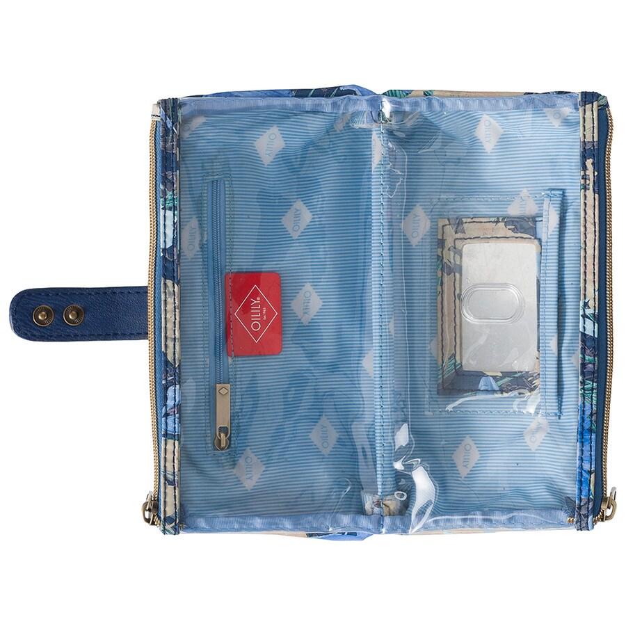 Flower Field Double Flat Cosmetic Bag Kosmetiktasche