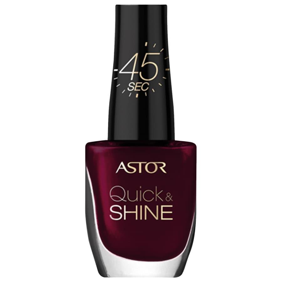 Astor Make-up Nägel Quick & Shine Nagellack Nr. 302 Glass Of Wine 8 ml