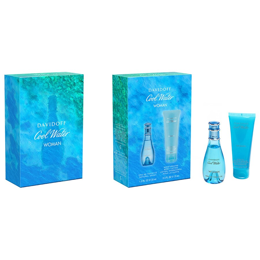 Davidoff Damendüfte Cool Water Woman Geschenkset Eau de Toilette Spray 30 ml + Body Lotion 75 ml 1 Stk.