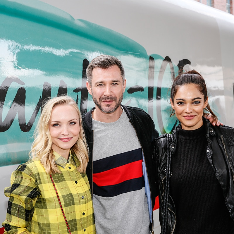 Jungfernfahrt des Douglas Beauty ICE mit Janin Ullmann, Jochen Schropp, Nilam Farooq