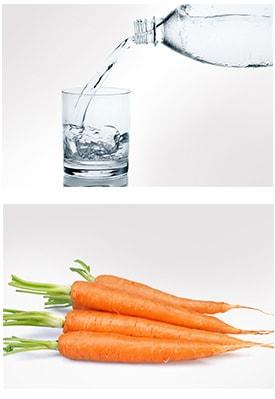 Gesunde Ernährung und ausreichend Flüssigkeit gegen Augenringe