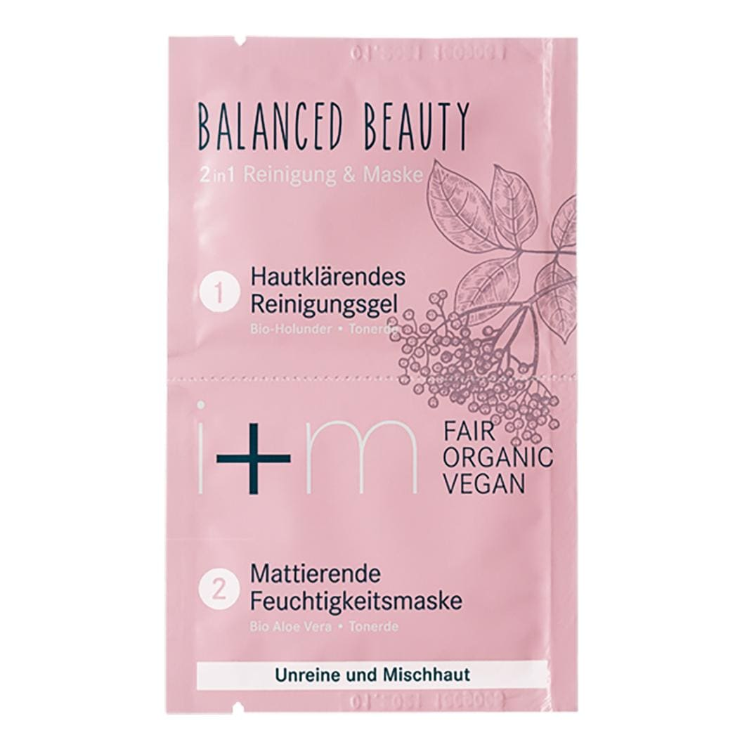 i+m Gesicht Balanced Beauty 2in1 Reinigung & Mask