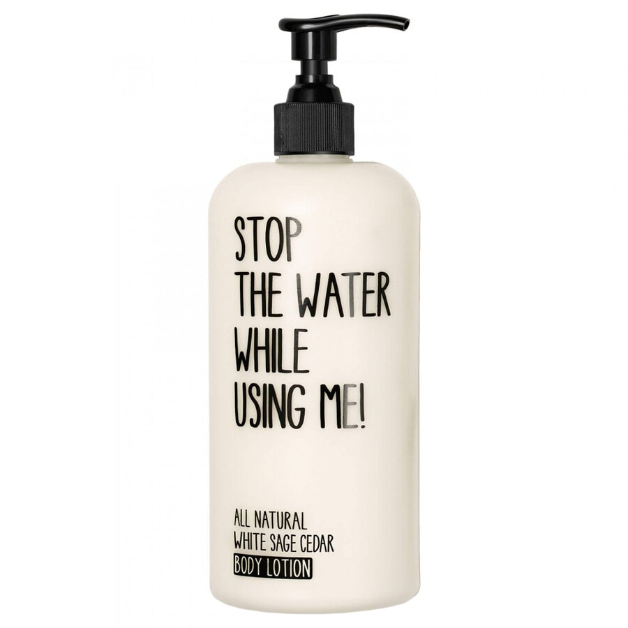 STOP THE WATER WHILE USING ME!  STOP THE WATER WHILE USING ME! White Sage Cedar Body Lotion Bodyloti