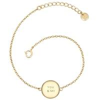 Glanzstücke München Armband You  Me Sterling Silber  gelbgold Armband 1.0 st - 4251338156785