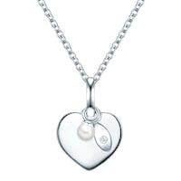 Valero Pearls Halskette Sterling Silber Zirkonia Süßwasser-Zuchtperle silber Kette 1.0 st - 4251338136022