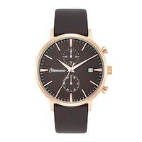 Strassmann Chronograph STRASS 900 roségold Echtleder braun Uhr 1.0 st - 4251338174178