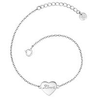 Glanzstücke München Armband Herz/ Love Sterling Silber  silber Armband 1.0 st - 4251338155948