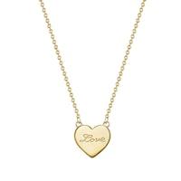 Glanzstücke München Halskette Herz/ Love Sterling Silber  gelbgold Kette 1.0 st - 4251338156006