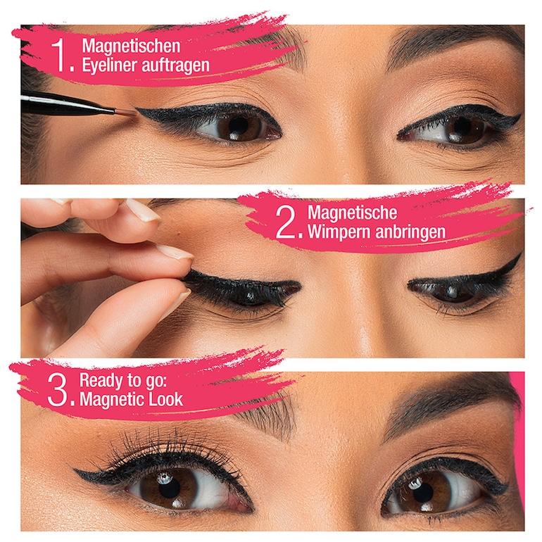 magnet wimpern mit eyeliner