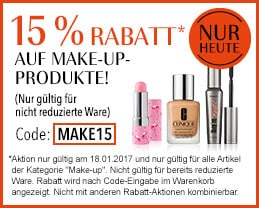 15 % Rabatt auf Make-up