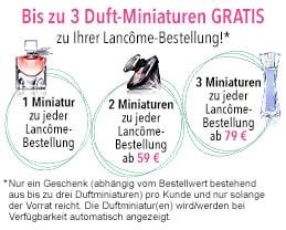 Drei Lancôme Duftminiaturen gratis