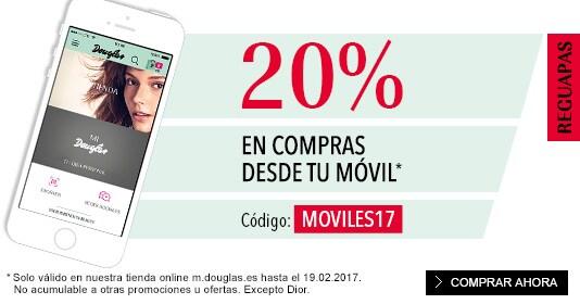 20% en pedidos móviles